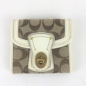 Coach Leather Trifold Wallet